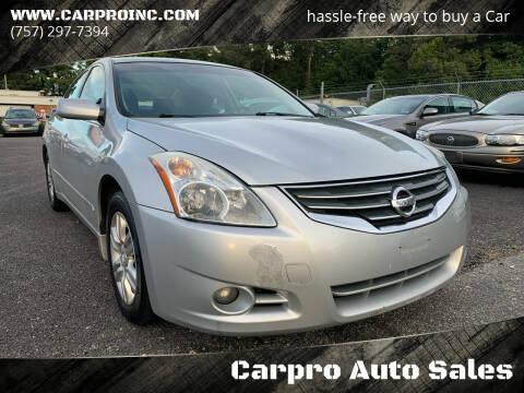 2011 Nissan Altima for sale at Carpro Auto Sales in Chesapeake VA