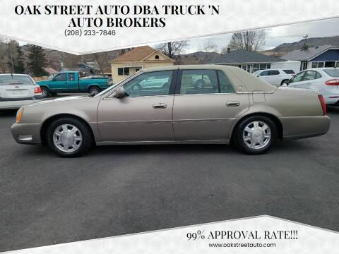 2004 Cadillac DeVille for sale at Oak Street Auto DBA Truck 'N Auto Brokers in Pocatello ID
