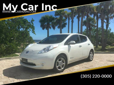 2014 Nissan LEAF for sale at My Car Inc in Pls. Call 305-220-0000 FL