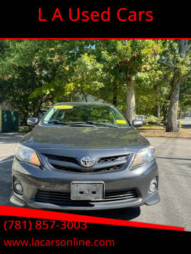 2012 Toyota Corolla for sale at L A Used Cars in Abington MA