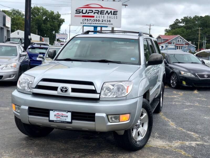 2004 Toyota 4Runner for sale at Supreme Auto Sales in Chesapeake VA