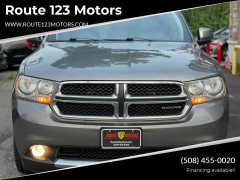 2012 Dodge Durango for sale at Route 123 Motors in Norton MA