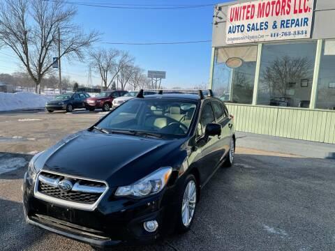 2014 Subaru Impreza for sale at United Motors LLC in Saint Francis WI