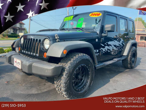 2008 Jeep Wrangler Unlimited for sale at Valpo Motors Inc. in Valparaiso IN