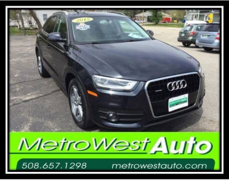 2015 Audi Q3 for sale at Metro West Auto in Bellingham MA