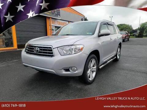 2009 Toyota Highlander for sale at Lehigh Valley Truck n Auto LLC. in Schnecksville PA