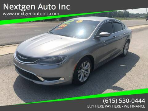 2016 Chrysler 200 for sale at Nextgen Auto Inc in Smithville TN