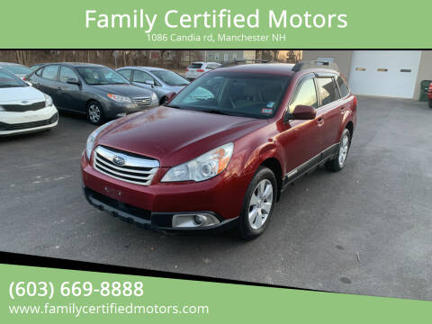 2011 Subaru Outback for sale at Family Certified Motors in Manchester NH