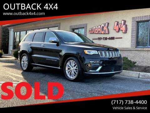 2018 Jeep Grand Cherokee for sale at OUTBACK 4X4 in Ephrata PA