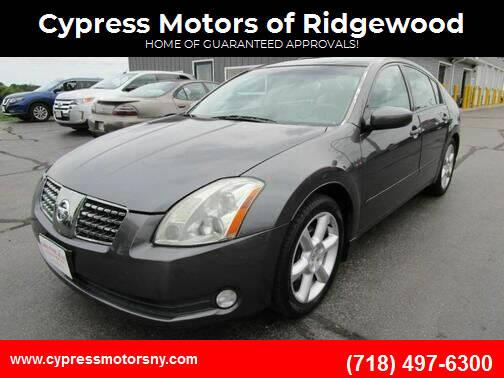 2006 Nissan Maxima for sale at Cypress Motors of Ridgewood in Ridgewood NY