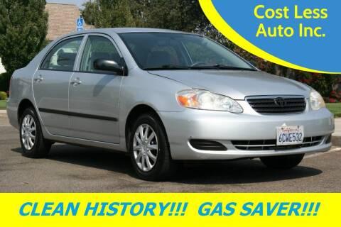 2008 Toyota Corolla for sale at Cost Less Auto Inc. in Rocklin CA