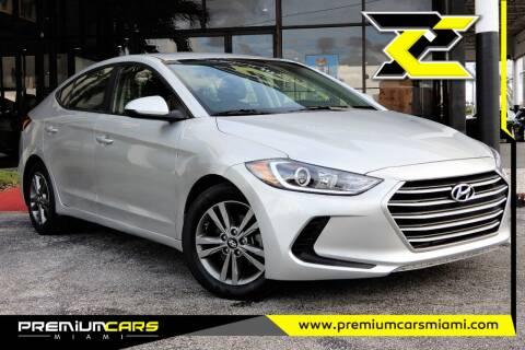 2018 Hyundai Elantra for sale at Premium Cars of Miami in Miami FL
