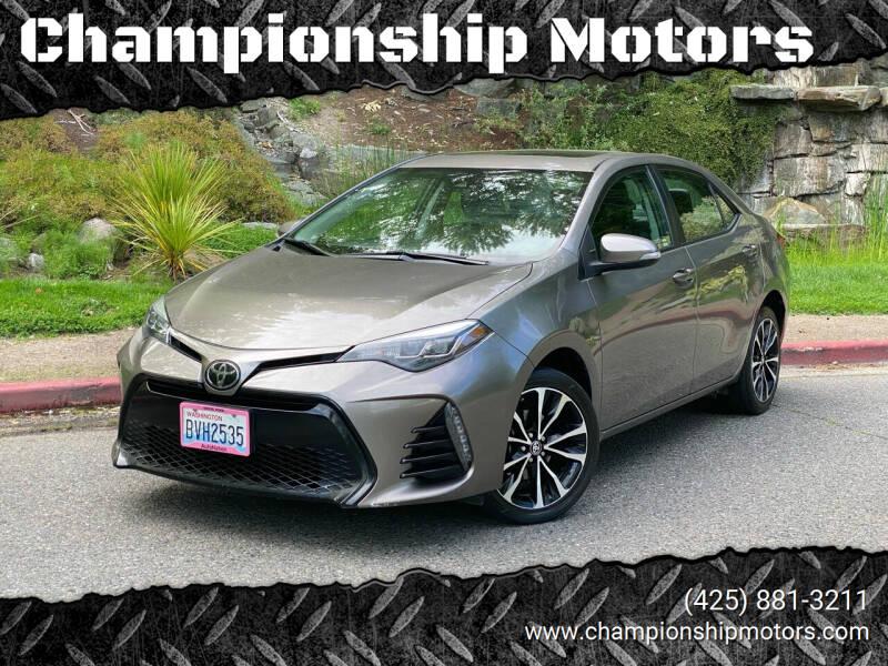 2018 Toyota Corolla for sale at Championship Motors in Redmond WA