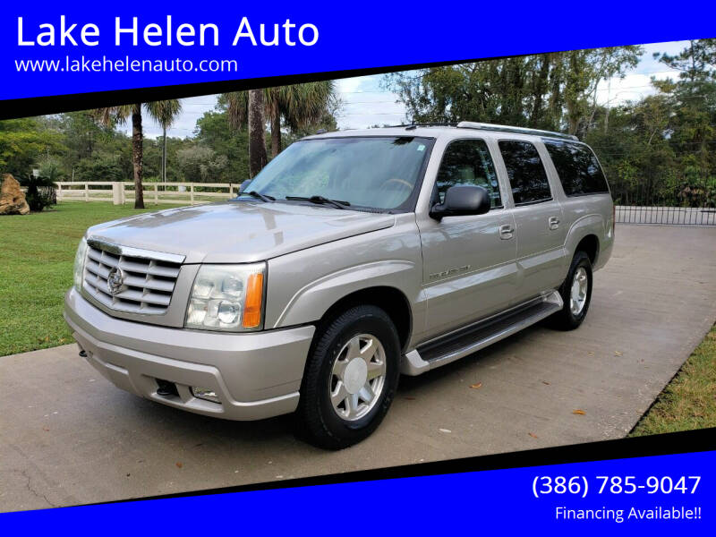 2004 Cadillac Escalade ESV for sale at Lake Helen Auto in Lake Helen FL