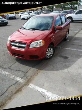 2008 Chevrolet Aveo for sale at ALBUQUERQUE AUTO OUTLET in Albuquerque NM