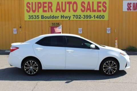 2016 Toyota Corolla for sale at Super Auto Sales in Las Vegas NV