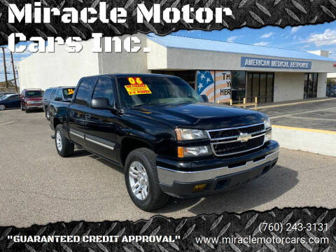 2006 Chevrolet Silverado 1500 for sale at Miracle Motor Cars Inc. in Victorville CA