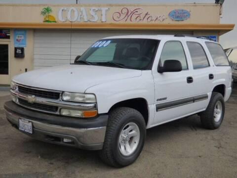 2002 Chevrolet Tahoe for sale at Coast Motors in Arroyo Grande CA