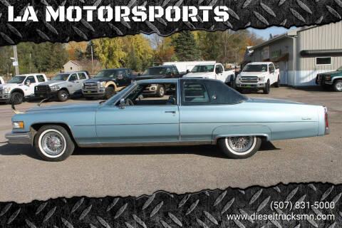 1976 Cadillac DeVille for sale at LA MOTORSPORTS in Windom MN