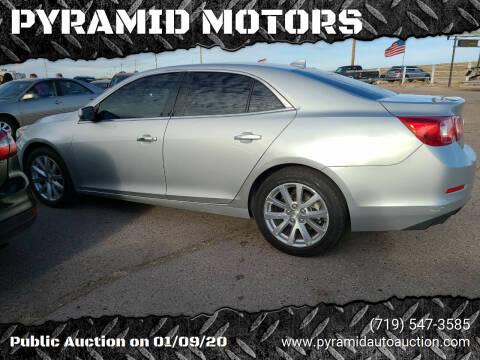 2013 Chevrolet Malibu for sale at PYRAMID MOTORS - Pueblo Lot in Pueblo CO