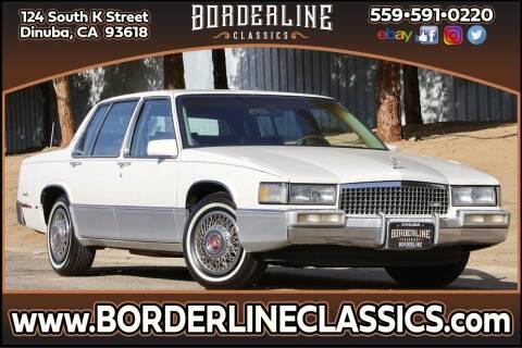1989 Cadillac DeVille for sale at Borderline Classics in Dinuba CA