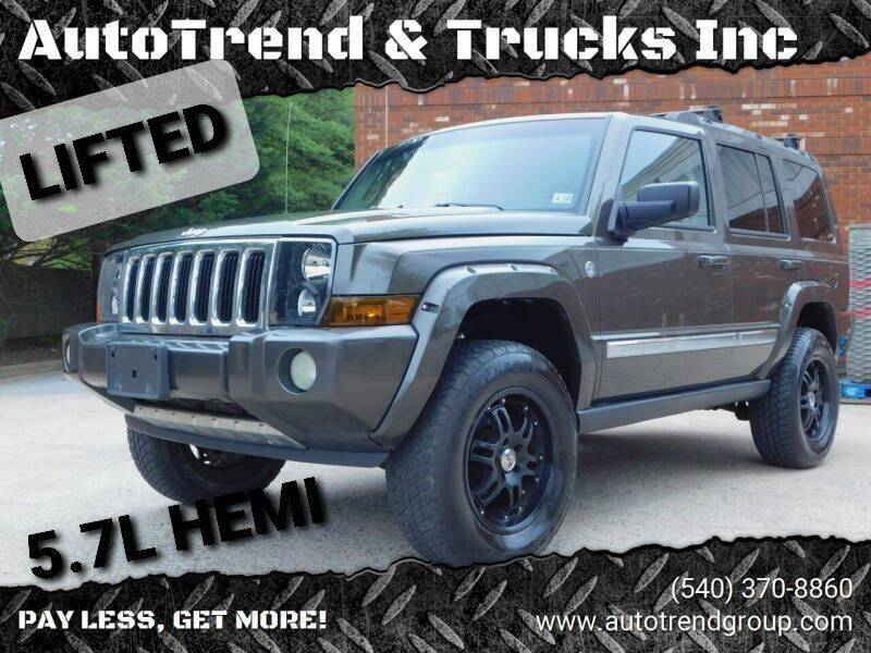 2006 Jeep Commander for sale at AutoTrend & Trucks Inc in Fredericksburg VA