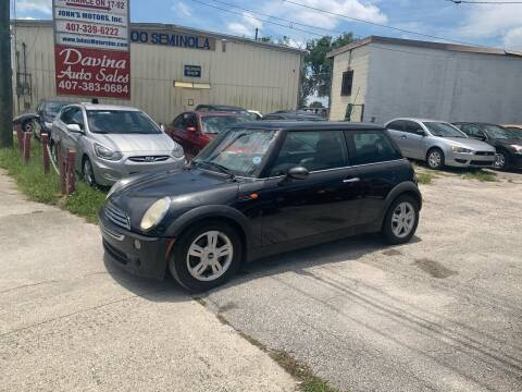 2006 MINI Cooper for sale at DAVINA AUTO SALES in Orlando FL