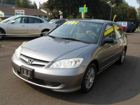2005 Honda Civic for sale at Yellow Line Motors in Lafayette OR