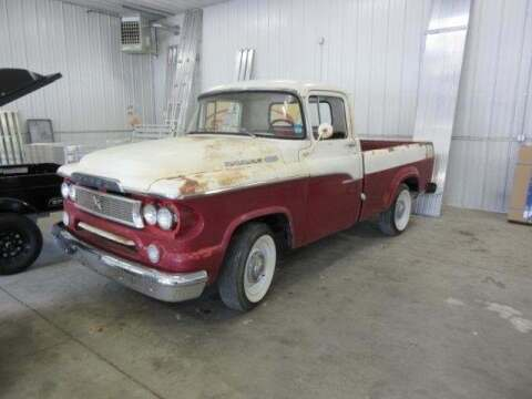 1960 Dodge D100 Pickup for sale at Stoufers Auto Sales, Inc in Madison Lake MN