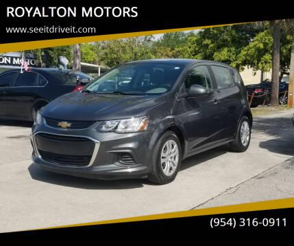 2020 Chevrolet Sonic for sale at ROYALTON MOTORS in Plantation FL