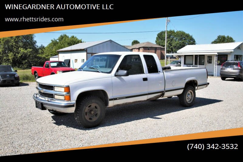 1998 Chevrolet C/K 2500 Series for sale at WINEGARDNER AUTOMOTIVE LLC in New Lexington OH