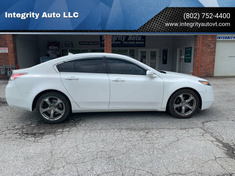 2013 Acura TL for sale at Integrity Auto LLC - Integrity Auto 2.0 in St. Albans VT