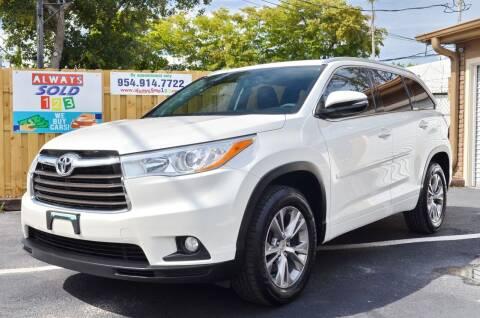 2014 Toyota Highlander for sale at ALWAYSSOLD123 INC in Fort Lauderdale FL