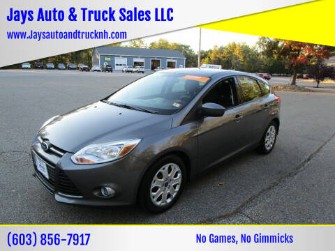 2012 Ford Focus for sale at Jays Auto & Truck Sales LLC in Loudon NH