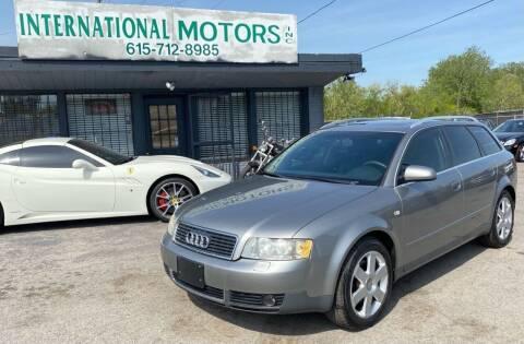 2003 Audi A4 for sale at International Motors & Service INC in Nashville TN