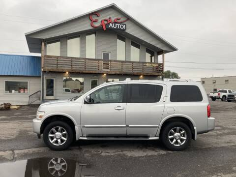 2006 Infiniti QX56 for sale at Epic Auto in Idaho Falls ID