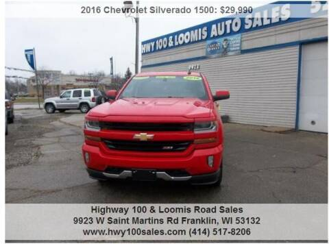 2016 Chevrolet Silverado 1500 for sale at Highway 100 & Loomis Road Sales in Franklin WI