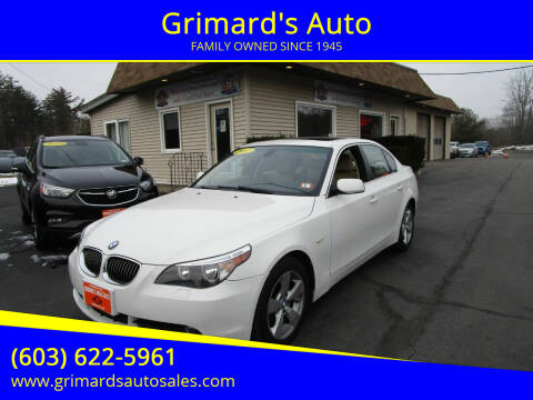 2007 BMW 5 Series for sale at Grimard's Auto in Hooksett, NH