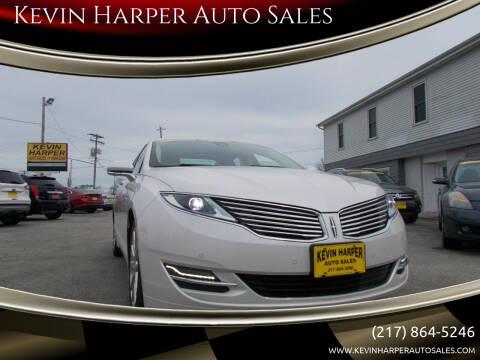 2015 Lincoln MKZ Hybrid for sale at Kevin Harper Auto Sales in Mount Zion IL