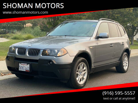 2004 BMW X3 for sale at SHOMAN MOTORS in Davis CA