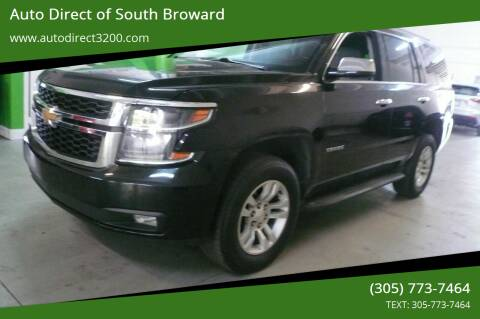 2015 Chevrolet Tahoe for sale at Auto Direct of South Broward in Miramar FL