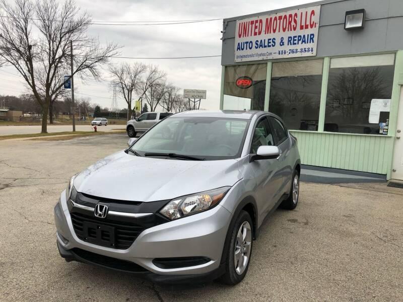 2018 Honda HR-V for sale at United Motors LLC in Saint Francis WI