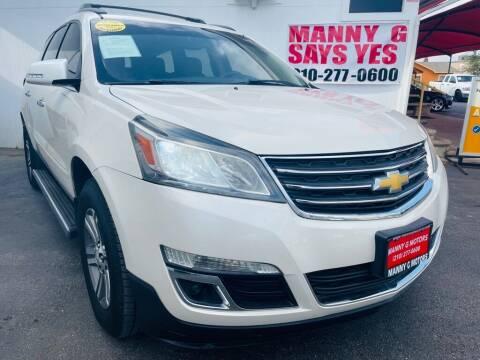 2015 Chevrolet Traverse for sale at Manny G Motors in San Antonio TX