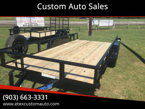 2021 Top Hat 16x83 Utility Trailer for sale at Custom Auto Sales - TRAILERS in Longview TX