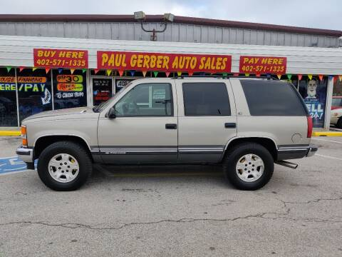 1999 Chevrolet Tahoe for sale at Paul Gerber Auto Sales in Omaha NE