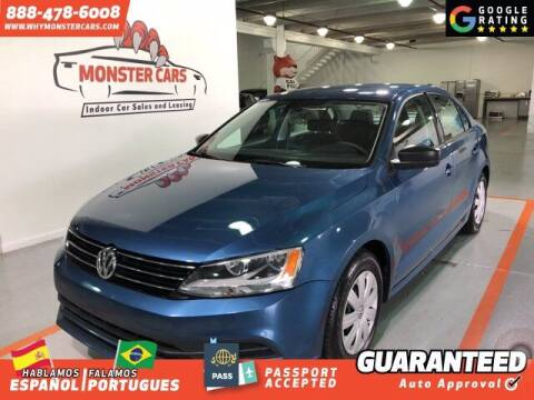 2016 Volkswagen Jetta for sale at Monster Cars in Pompano Beach FL
