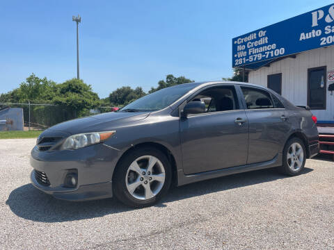 2012 Toyota Corolla for sale at P & A AUTO SALES in Houston TX