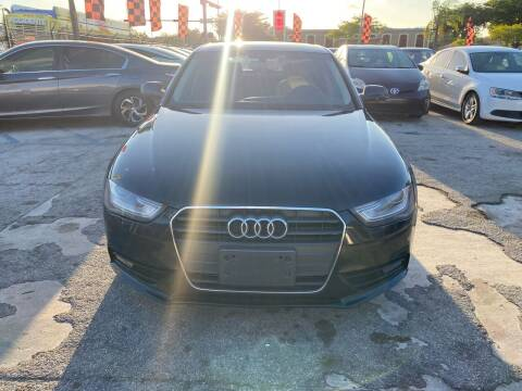 2013 Audi A4 for sale at America Auto Wholesale Inc in Miami FL
