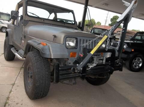 1990 Jeep Wrangler for sale at Broken Arrow Motor Co in Broken Arrow OK