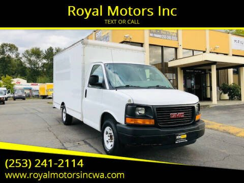 2012 GMC Savana Cutaway for sale at Royal Motors Inc in Kent WA